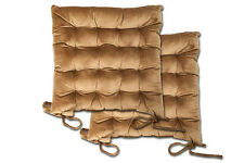 GUATEADO terciopelo cojín acolchado silla asiento con lazos jardín Comedor