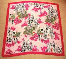 Italian Very Elegant 100% Polyester Scarf with Magic Scenery of old architecture