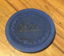 Villa Hotel Illegal Gambling Chip-McClure Illinois