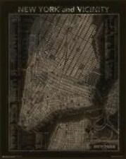 EDUCATIONAL POSTER Vintage NYC Map