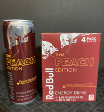 Red Bull The Peach Edition 4 Pack 8.4 Oz 250 Ml Cans New Sept 2021