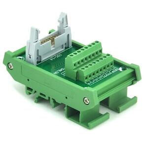 IDC-16 DIN Rail Mounted Interface Module, Breakout Board, Terminal Block. x1
