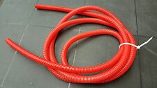 10 foot roll convoluted plastic tubing Red but looks Orange wire covering 1/2 ID