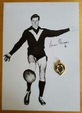 1957 BRIAN GLEESON ST.KILDA HAND SIGNED B&W PHOTO & FREE REPLICA BROWNLOW MEDAL