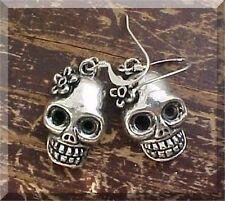 Day of the DEAD Halloween Earrings Sugar Skull Flower Frida Kahlo BEST SELLER