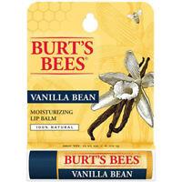 [BURT'S BEES] 100% Natural Beeswax Lip Balm Made in USA (VANILLA BEAN) NEW