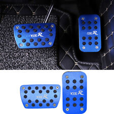 2pcs blue No Drilling Gas Brake Foot Pedal Cover AT For Honda Civic 2016-2018