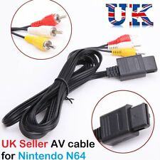 AV Video Audio Cable Lead Wires for Nintendo N64 GameCube System NGC GC UK Sales