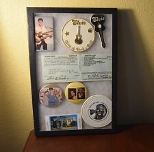 Elvis Presley Memorabilia Shadow Box Pins License Copy Pins Graceland Ticket