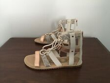 Sorel Ella Lace Up Womens Sandals Size 8