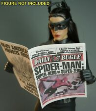 "1/6 Scale Newspaper - Daily Bugle for Spiderman Peter Parker ""Super Zero?"""