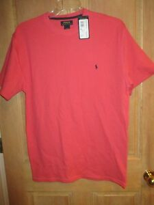 NEW POLO RALPH LAUREN MENS XL Waffle Pajama Top Sleep S/S Shirt $39 Retail Pink