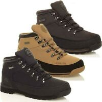 MENS SAFETY STEEL TOE CAP WORK BOOTS LEATHER HIKING GROUNDWORK TRAINER SHOE SIZE