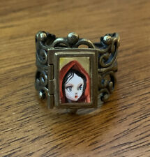Mab Graves Original Little Red Riding Hood Fairy Tale Book Locket Ring