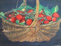 "Kirill Fadeyev authored PRINT /""Sweet strawberries/"" 30x20cm canvas gay art male"