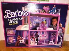 Vintage 1984 Mattel Barbie Glamour Dollhouse Box Instructions Used