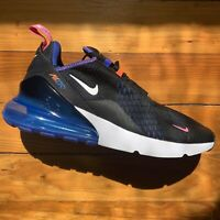 Nike Air Max 270 Men's Athletic Shoes Size 10 Black Astronomy Blue  DC1858-001