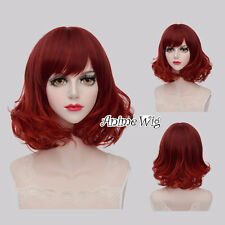 Lolita Mixed Red 40CM Curly Hair Lolita Lady Fashion Party Cosplay Wig