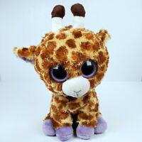 "Ty Safari The Giraffe Plush Stuffed Animal 9"" Toy Purple Beanie Boos"