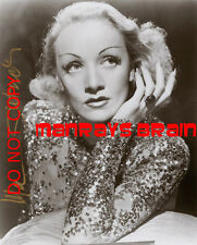 "MARLENE DIETRICH Signed Autograph RP 8.5 x 11"" Photo"