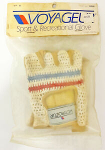 Schwinn Voyageur Cycling Gloves Vintage Leather Crochet (S) Small - NOS