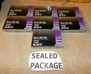 Imation 8mm D8-160 Data Tapes 7 Tape Lot Sealed Fast Priority Shipped