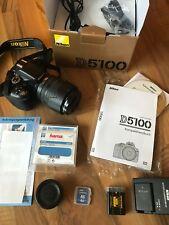 Nikon D5100 (gepflegtes Kit mit AF-S DX 18-105mm Zoomobjektiv+Zubehörpaket)