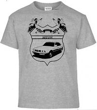 T-Shirt BMW E34, German Classic Style ,Pinup,Oldtimer,