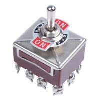 ZENGTAI 10A/380VAC 15A/250VAC 3 Position 4PDT ON/OFF/ON 12 Pin Toggle Switch V4M