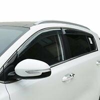 For Kia Sportage 2017-2020 4PCS Chrome Window Visor Sun Rain Guard Vent Shade