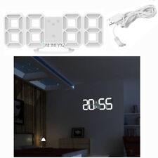 Modern Digital LEd Skeleton Night Wall Timer Alarm Clock 24/12 Hour Display