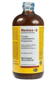 NEW - Nemex 2 Oral Liquid Dog Dewormer 16 oz. / 473 ml pyrantel pamoate Puppy