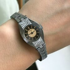 USSR Ladies LUCH Small Bicolored Vintage Dial Thin Bracelet Mechanical Watch 70s