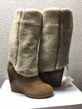 UGG COLLECTION FIORENTINA CHESTNUT OVER THE KNEE WEDGE USA 9.5 / EU 40.5 / UK 8