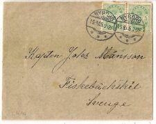 COVER DENMARK DANMARK NYBORG TO SWEDEN SVERIGE. 1905.  L410
