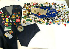 New listing Odyssey of the Mind Pin Towel Vest Lot 128+ Pins 1999