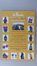Panda Pattern Book #800 Kids Learn to Knit Small Book 56 Projects 92 pages