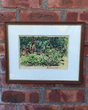 Philadelphia Artist Harriet Curtin Ermentrout Impressionist Watercolor Painting.