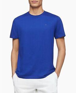 BNEW  Calvin Klein Men's Liquid Touch Solid Crew neck T-shirt, Blue, Medium