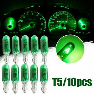 10x Green W2W T5 Car Dashboard Light Panel Gauge Halogen Instrument Lamp Bulbs