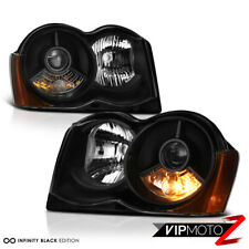 For 2008-2010 Jeep Grand Cherokee [OFF-ROAD] Black projector Headlight Lamp Pair