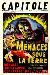 The Mole People 1956 Belgian Movie Poster