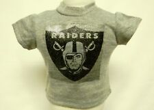 "Oakland Raiders Theme Silver Glitter Transfer T-Shirt For 16"" Or 18"" Dolls"