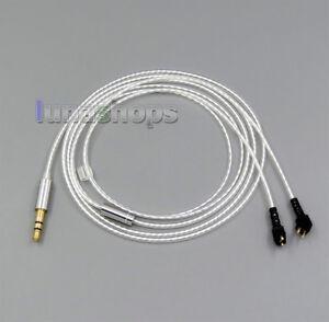 Pure Silver Plate Earphone Headphone Cable For Etymotic ER4B ER4PT ER4S ER4 ER4P