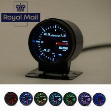"UK ! 12V 2"" 7 Color LED Car Bar Turbo Boost Gauge Meter With Sensor Holder"