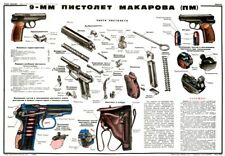 *BIG Color Poster Of The Soviet Russian Makarov 9mm Handgun Manual LQQK BUY NOW!