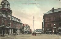 Putnam CT Post Office Square c1910 Postcard