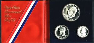 "1975 USA ""Bicentennial Commemorative"" Silver Proof Coin Set"