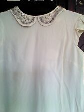 M&S Childrenswear Angel Blouse Champagne Size Large
