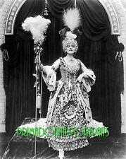"THEDA BARA 8x10 Lab Photo 1917 ""MADAME DU BARRY"" Stunning Elegant Gown Portrait"
